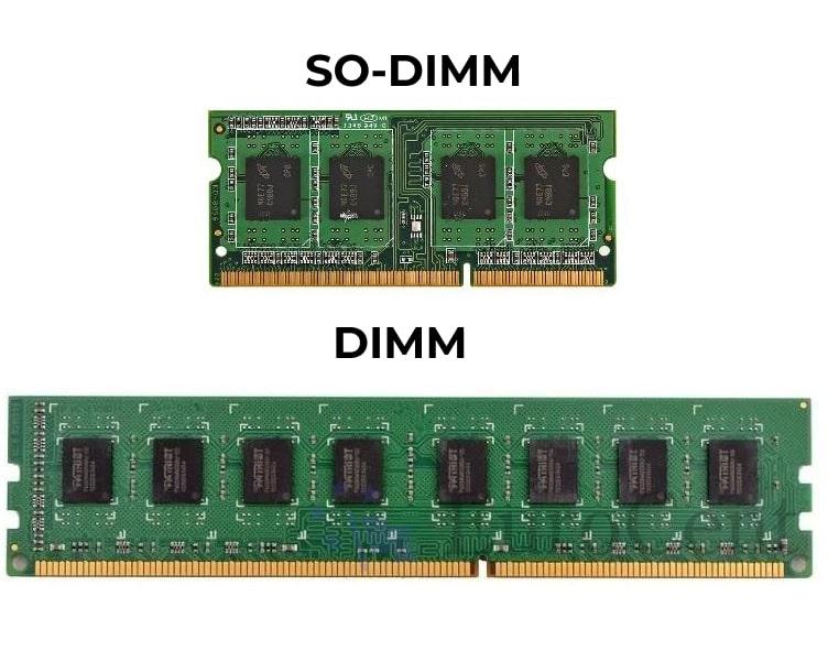 Типы памяти DIMM SO-DIMM