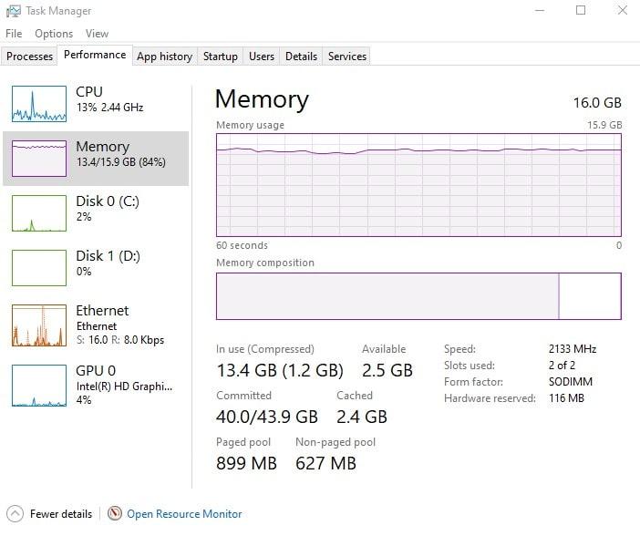 Как проверить проверить объем оперативной памяти